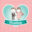 Wedding design  — Stockvektor