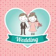 Stock Vector: Wedding design