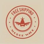 Free shipping — Stock Vector #32048023