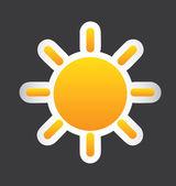 Big sun — Stock Vector