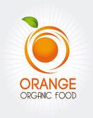 Cítricos naranjas — Vector de stock