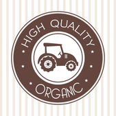 Organic label — Stock Vector