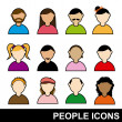Stock Vector: People icons