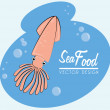 Sea food — Stock Vector