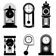Time icons  — Stockvectorbeeld