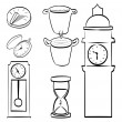 Time icons — Stok Vektör #32284013