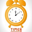 Stock Vector: Clock and time design