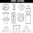 Time icons — Stok Vektör #32284093