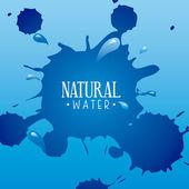 Natural water — Stock Vector