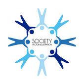 Society — Stock Vector
