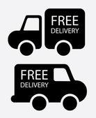 Free delivery — Stok Vektör
