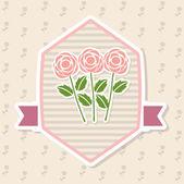 розы дизайн — Cтоковый вектор