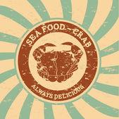 Comida de mar — Vector de stock