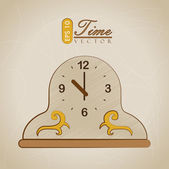 Clock and time design — Stock Vector
