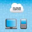 Cloud computing — Stock Vector #32683925