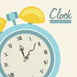 Clock  design — Grafika wektorowa