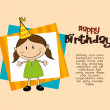 Stock Vector: Birthday girl