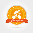 Champions cycling design — Stock Vector #32689797