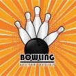 Bowling — Vector de stock