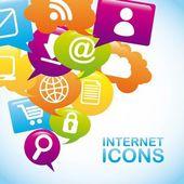 интернет-иконки — Cтоковый вектор
