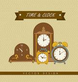 Clock design — Stock Vector
