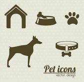 Pet icons — Stock Vector