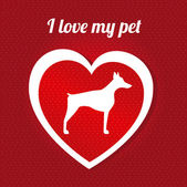 I love my pet — Stock Vector