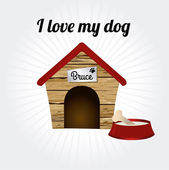 I love my dog — Stock Vector