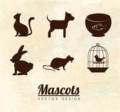 Mascots — Stock Vector