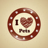 I love pets — Stock Vector