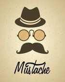 Mustache — Stock Vector
