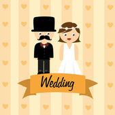 Conception de mariage — Vecteur