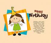 Birthday girl — Stock Vector