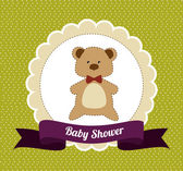 Baby shower design — Stock Vector