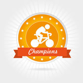 Champions cycling design — Stock Vector