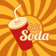 Stock Vector: Cold soda