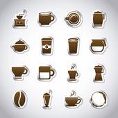 Coffee icons — Stock vektor