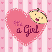 Its a girl — Vecteur