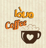 Love coffee time — Stock Vector