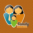 Stock Vector: Family love