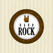 Rock design — Stock Vector