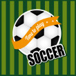 soccer ball&quot — Stock Vector