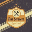 Full service — Stock Vector