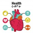 Stock Vector: Infographics of cardiology design