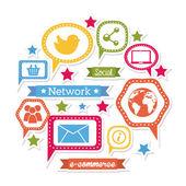 Social network — Stock Vector