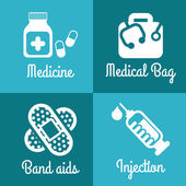 Healthy icons — Stock Vector