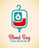 Blood bag — Stock Vector