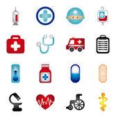 Healthy icons — ストックベクタ