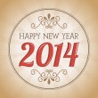 Happy new year 2014 — Vector de stock #33849987