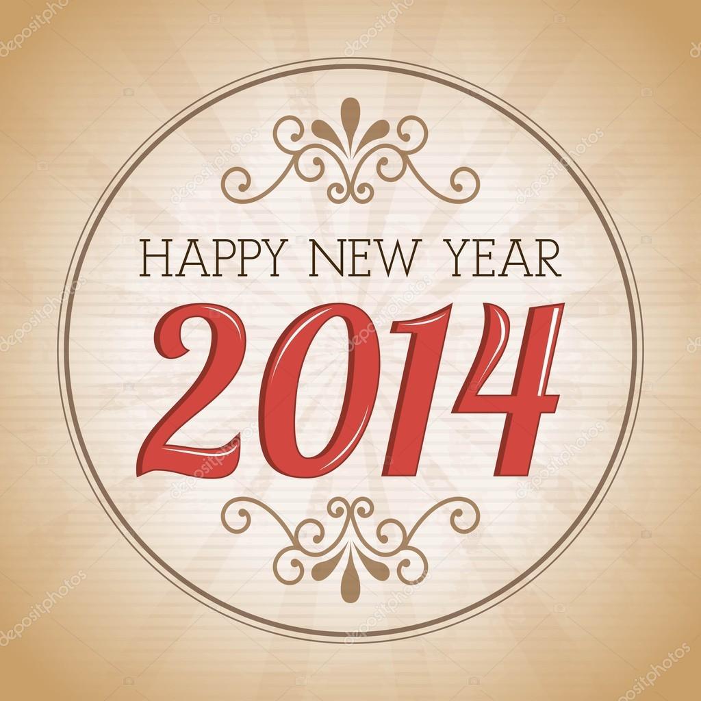 Vintage Happy New Year 2014